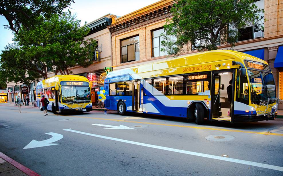 SLO New Buses in action